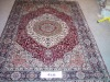 Handknotted silk carpet prayer carpet,orienal carpet