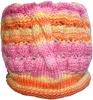 Hat knitted colored wool yarn, hand knitting pure wool yarn