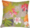 Hawaii Garden 15''x15'' Floral Throw Pillow(HZY-P-8131)