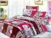 High Quality Cotton Printed 5pcs bedding set