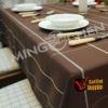 High quality Solid PE elegant table cloth