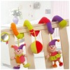 High quality cotton buffoon crib toy  packed with opp bag.