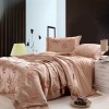 High quality imitation silk bedding set with 4 pcs home textile