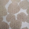 Hot!! New Design Leafy Wall Fabric For Decor Room