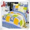 Hot! Printed peach skin bedding set/home textile