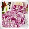 Hot! Printed peach skin bedding sheet set/home textile