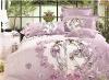 Hot! Printed peach skin house textile