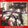 Hot Selling 100%polyester Flower Design Bed Sheet