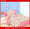 Hot sale calico printed full size pink bedding set
