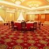 Hotel ballroom floral carpet