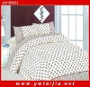 Hotel textile polyester pigment printed queen bedding set