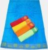 Jacquard Velvet beach towel with Embr.