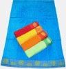 Jacquard velvet beach towel with embroidery
