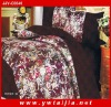 King size luxury colorful  IMITATED SILK comforter sets