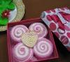 Latest 100% cotton cake towel gifts set(WBC-033)
