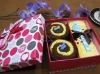 Latest 100% cotton cake towel gifts set(WBC-034)