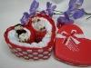 Latest 100% cotton gift towel cake set(WBC-008-2)