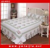 Latest 100%cotton patchwork in border and reactive dye printing 3pcs bedding set