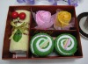 Latest 100% cotton towel cake gifts set(WBC-053-4)
