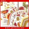Latest style colorful calico printed king size bedding set 6pcs