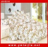 Latest style white calico printed 6pcs bedding set