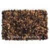 Leather shaggy rug