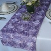 Lilac Satin Rosette Table Runner/Wedding Table Runner/Table Runner Decoration