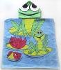 Lovely Frog printing children hooded towel