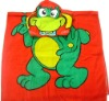 Lovely turtle printed kids hooded poncho towel