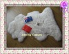 Lovely white warm longwool kid's rug