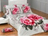 Luxuriant design splandid peony reactive printed 100% cotton bedding set made in China