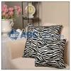Luxurious zebra print cushion/pillow/cushion cover