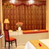 Luxury Jacquard readmade polyester curtain with top tab