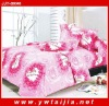 Luxury bedding sets/Reactive printing bed sheet set/Rose printing bedding set
