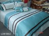 Luxury blue comforter set !! striped