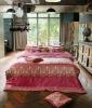 Luxury cotton bedding set, Empress Wine with Mineral fiber