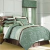 Luxury embroidery and pleat bedspread