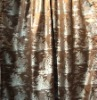 Luxury satin silk curtain, antique jacquard plants pattern silk curtain(B190082)