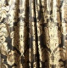 Luxury satin silk curtain, antique jacquard silk curtain(B190080)