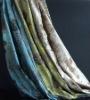 Luxury satin silk curtain, jacquard rose pattern silk curtain(B190076)