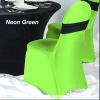 Lycra Spandex Chair Cover in Bright Green Color With Spandex Band