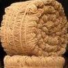 Machine twisted coir yarn