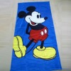 Mickey antistatic printed beach towel