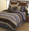 Microfiber fake-suede,patchwork bedding set