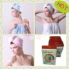 Microfiber hair wrap with quick drying and super soft advantange