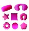 Mirco beads  shaped cushion