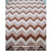 Modern Hand Knotted Striped Carpet