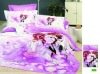 Modern lovers printed bed sheets cotton bed line