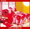 NEW design red 4pcs 100% cotton twill printed beautiful bed sheet sets