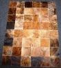 Natural cowhide patchwork carpet
